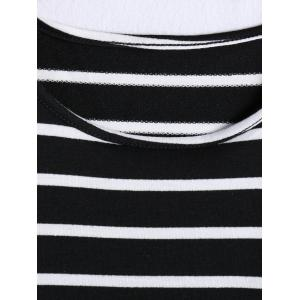 Stylish Jewel Neck Striped Tank Top For Women -