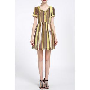 Sequined Colorful Striped Dress -