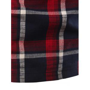 Stand Collar Slimming Checked Short Sleeve Polo T-Shirt For Men -