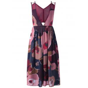 Elegant V-Neck Print Dress For Women