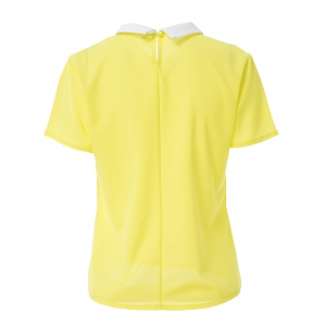 Stylish Women's Short Sleeve Candy Color Blouse -
