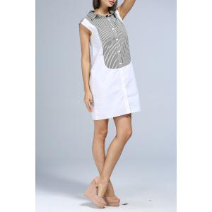 Single-Breasted Color Block Dress -