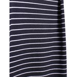 Casual Jewel Neck Short Sleeve Striped Dress For Women -