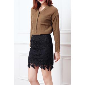 Cut Out Lace Skirt -