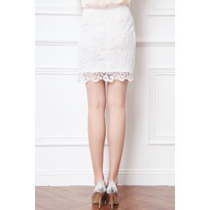 High Waisted Sheath Lace Skirt -