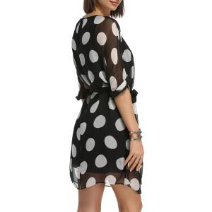 Belted Polka Dot Dress and Cami Black Tank Top -