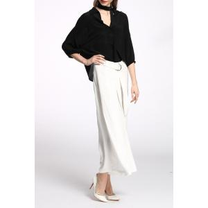 Belted Pure Color Palazzo Pants -
