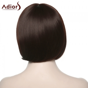 Stylish Adiors Full Bang Straight Synthetic Bob Wig For Women - COLORMIX