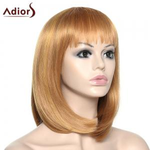 Stylish Adiors Full Bang Straight Synthetic Wig For Women - COLORMIX
