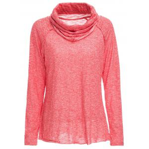 Stylish Cowl Neck Long Sleeve Spliced Women's Sweatshirt