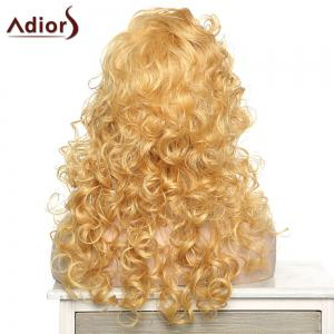 Stylish Adiors Curly Long Side Bang Synthetic Wig For Women -