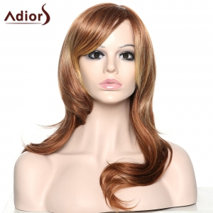 Stylish Adiors Curly Long Inclined Bang Synthetic Wig For Women -