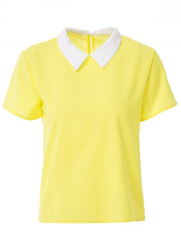 Fashion Stylish Women's Short Sleeve Candy Color Blouse