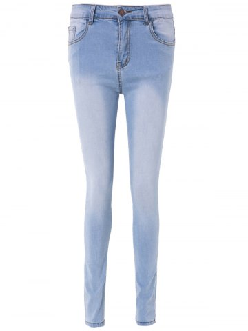 Outfit High Waisted Skinny Blench Wash Jeans