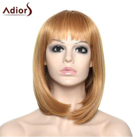 Discount Stylish Adiors Full Bang Straight Synthetic Wig For Women COLORMIX