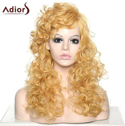 Outfit Stylish Adiors Curly Long Side Bang Synthetic Wig For Women