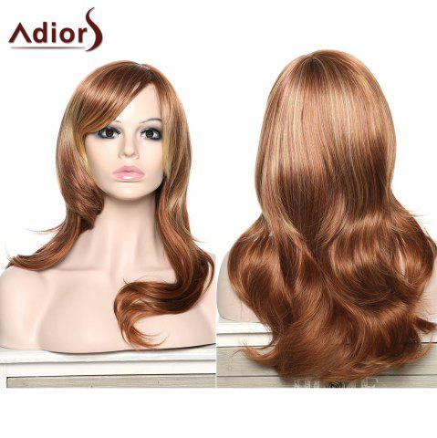 Fashion Stylish Adiors Curly Long Inclined Bang Synthetic Wig For Women