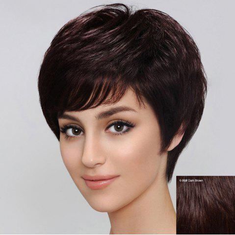 Chic Spiffy Women's  Short Side Bang Human Hair Wig