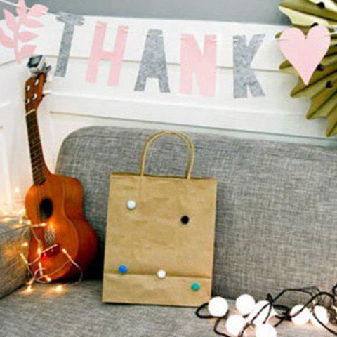 Discount Set of Fashion Thank You Letters Garland Flags For Party Decoration Supplies - PINK + GRAY  Mobile