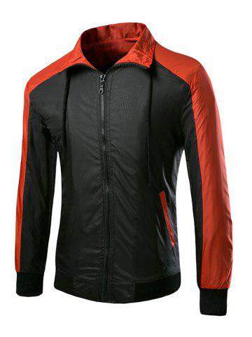 Outfits Casual Splicing Turn Down Collar Zipper Jackets For Men