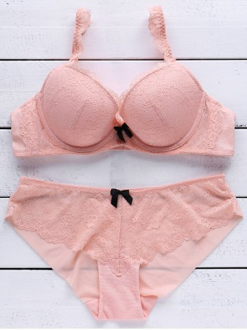Fashion Lace Push Up Bra and Panty Set