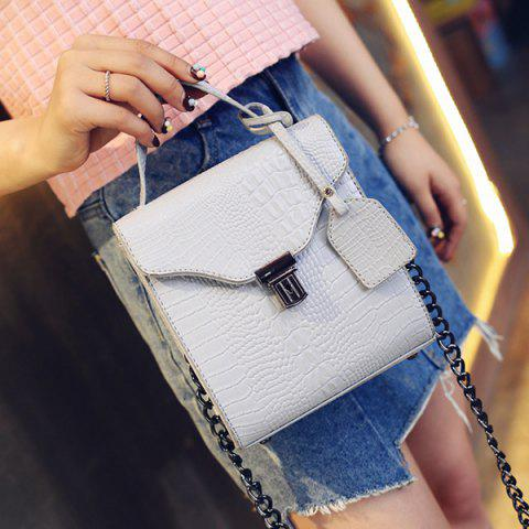 Outfit Sweet Crocodile Print and Hasp Design Tote Bag For Women -   Mobile