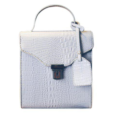 Shops Sweet Crocodile Print and Hasp Design Tote Bag For Women -   Mobile