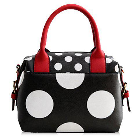 Best Fashionable PU Leather and Polka Dot Design Tote Bag For Women