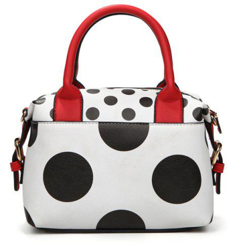 Cheap Fashionable PU Leather and Polka Dot Design Tote Bag For Women
