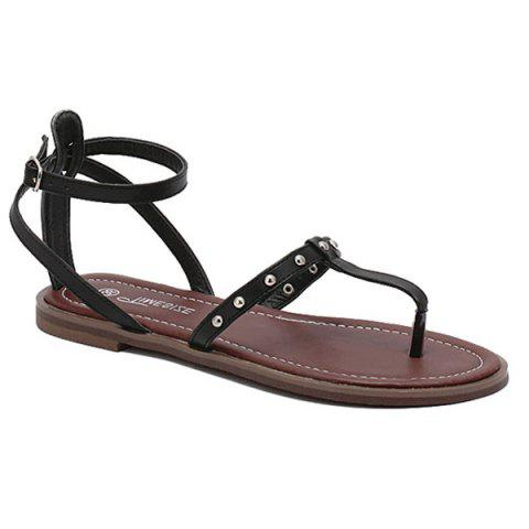 Outfits Leisure Ankle Strap and Rivet Design Sandals For Women