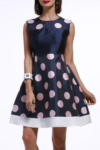 Outfit Waisted Corset Polka Dot Dress
