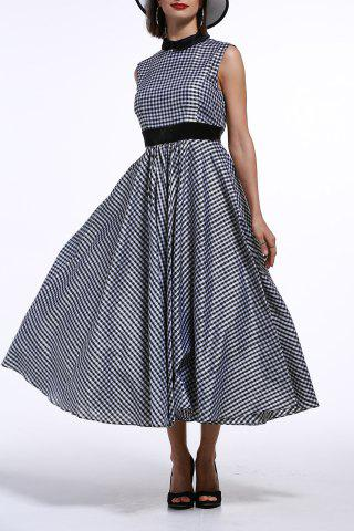 Shop Back Zippered Checked Dress