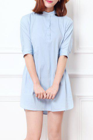 New Candy Color Half Sleeve Dress