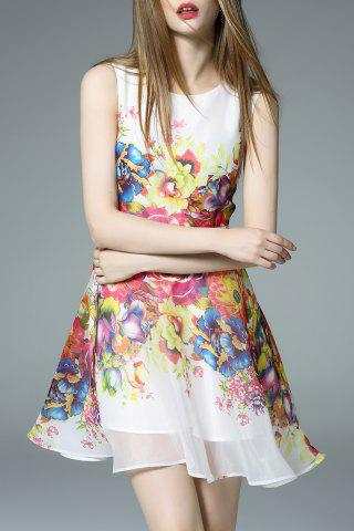 Outfit Flower Print A Line Mini Dress