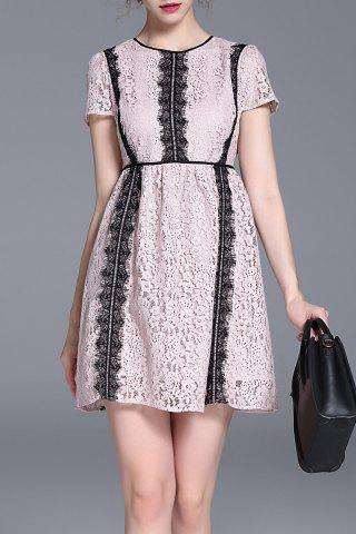 Fancy High Waisted Lace Mini Dress