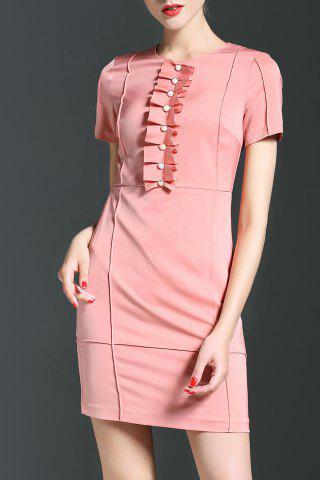 Buy Packet Buttock Solid Color Dress