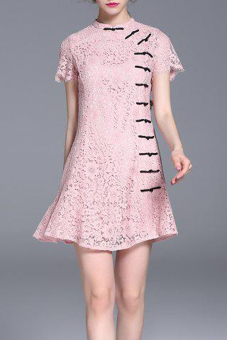 Outfits Short Sleeve Lace Mini Dress