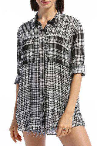 Online Double Pocket Checked Shirt