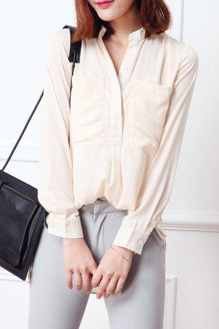 New Stand Collar Chiffon Blouse