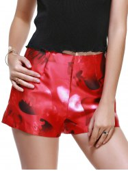 Fashionable High-Waisted Printing Slimming Shorts For Women -