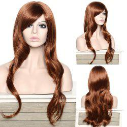 Stylish Adiors Long Curly Side Bang Synthetic Wig For Women - BROWN