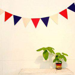 Creative 9PCS Non-Woven Fabric Red White and Blue Party Flag - RED AND WHITE AND BLUE