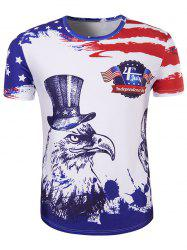 Hot Sale 3D Owl Printed Round Neck Short Sleeve T-Shirt For Men -