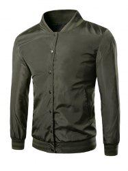 Casual Solid Color Stand Collar Single Breasted Jackets For Men -