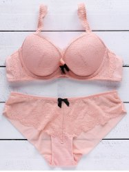 Lace Push Up Bra and Panty Set -