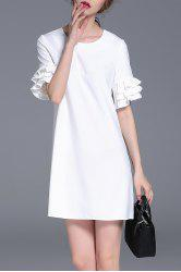 Flounced Sleeve Mini Dress -