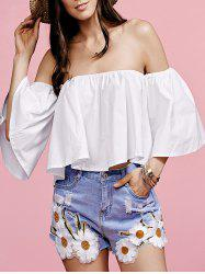 Off The Shoulder Flounce Women's Blouse