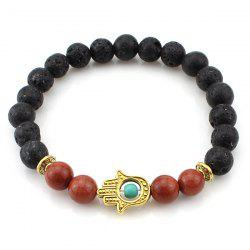 Fake Stone Beads Hollowed Hand Bracelet