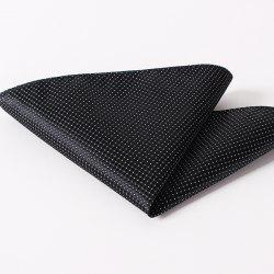 Stylish Small Checkered and Dots Pattern Wedding or Party Business Suit Pocket Square For Men -
