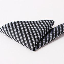 Stylish Checkered Pattern Wedding or Party Business Suit Pocket Square For Men -